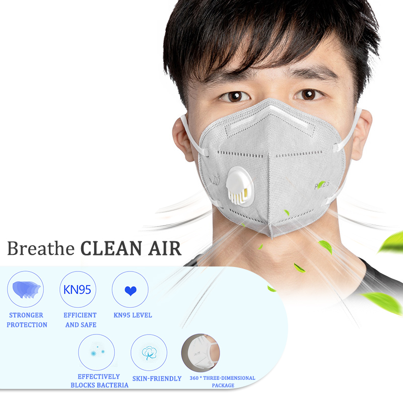 KN95 Folding Valved Dust Mask PM2.5 Anti Flu Formaldehyde Bacteria Proof Face Mouth Mask Safe Breathable Masks Dropshipping