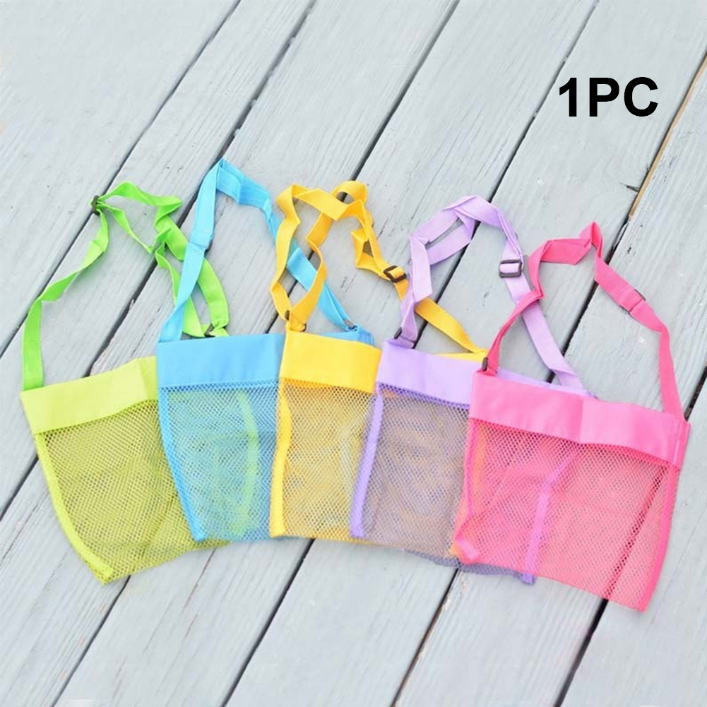 Oxford Cloth Kids Organizer Adjustable Strap Large Capacity Children Mesh Bag Crossbody Outdoor Portable Sand Toy Storage Carry
