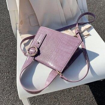 Crocodile Pattern PU Leather Crossbody Bags For Women 2020 Summer Shoulder Handbags Lady Travel Totes Cross Body Bag