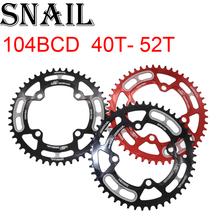 Snail Chain ring Round 104 BCD 40t 42t 44t 46t 48t 50t 52t tooth MTB Mountain Bike ChainWheel Tooth Plate 104bcd 44 46 48 50 52