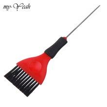 Plastic Handvat Met Staart Haar Verven Kam Pro Salon Verven Borstel Kapper Coloring Highlighting Borstels Haar Styling Tool