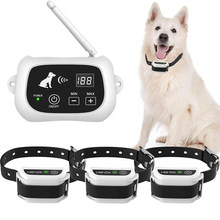 500m sem fio elétrico cão cerca pet sistema de contenção à prova dwaterproof água recarregável treinamento colares transmissor sinal 1/2/3 cães