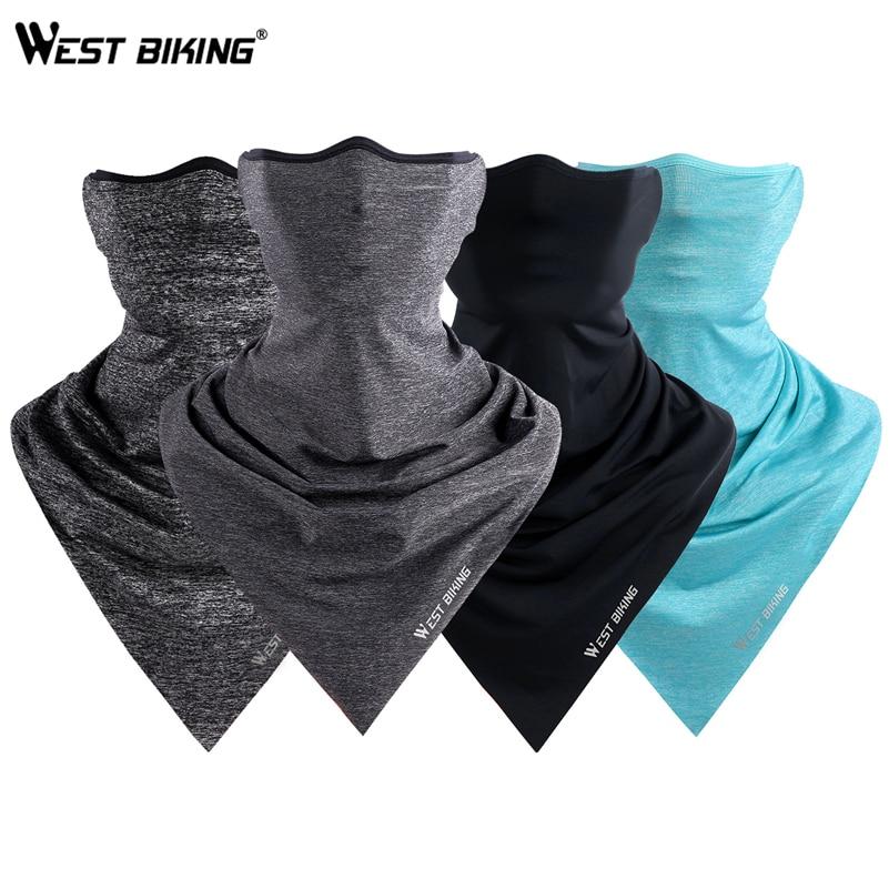 WEST BIKING Summer Cycling Mask Breathable Outdoor Sports Facemask Ice Silk Bandana Headband Anti-UV Running Training Face Mask