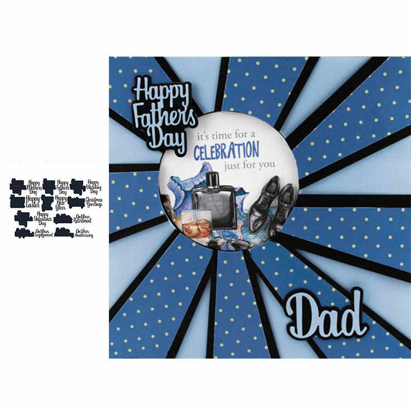 on your engagement happy father's mother's day metal cutting dies stacking cut die for DIY Scrapbooking cards crafts new 2019
