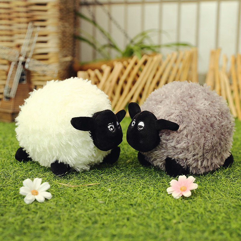 25-50cm  PP Cotton Shawn Plush Sheep Soft Toys Stuffed Animal Sheep Dolls Valentine's Day Christmas Gifts Toys For Children Girl