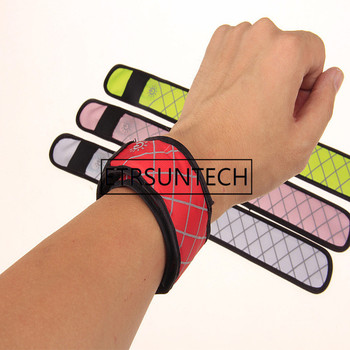 300pcs/lot Nylon LED Sports Slap Wrist Strap Band Wristband Light Flash Bracelet Glowing Armband Factory wholesale
