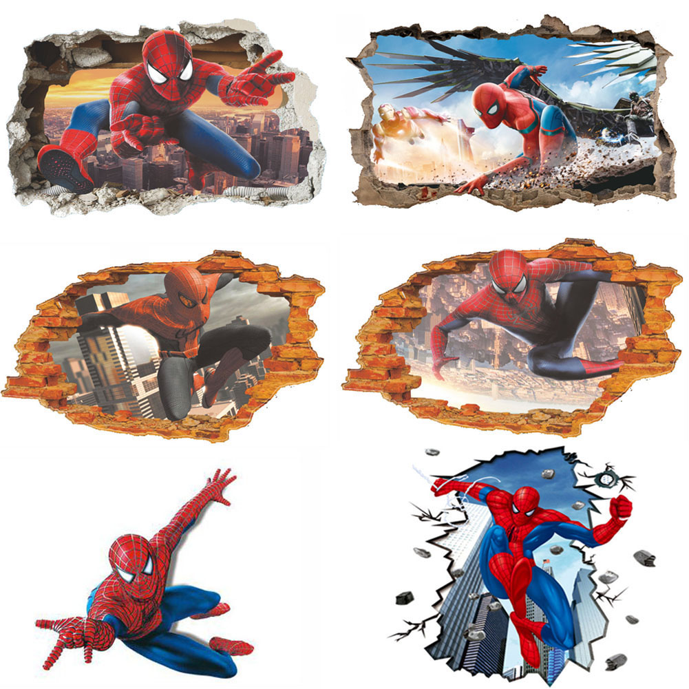 US!DIY 3D Spider Man Removable Vinyl Wall Decal Stickers Kids Room Home Decor