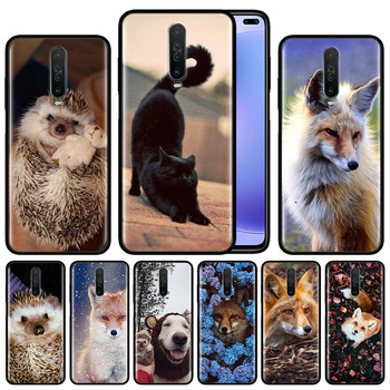 Cat Salem Witches Broom Dog Case for Xiaomi Redmi Note 8T 8 7 K20 K30 5G 9 7s 9s Pro Black Silicone Protective Phone Cover image