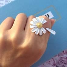 Etrendy Neue Daisy Blume Ringe Für Frauen Boho Mode Schmuck Einfache Weiß Einstellbare Ring Öffnen Design