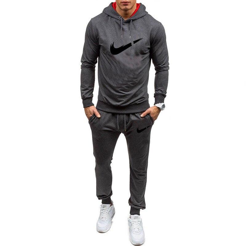 New Men's Brand Sportswear Hoodie Suit Autumn Men's Track Suit Casual Sportswear Men's Sweatpants Men Set    Mens Sweat Suits
