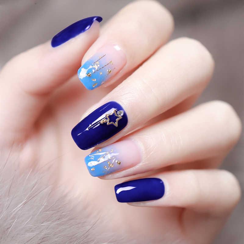 FairyGlo 10 ミリリットル青色ジェルネイルポリッシュ半永久 LED Uv ジェルニスのネイルアソークオフゲルラッカーマットトップコート