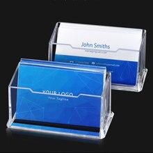 Business-Card-Holder Desktop-Storage Transparent Double-Layer Simple-Design