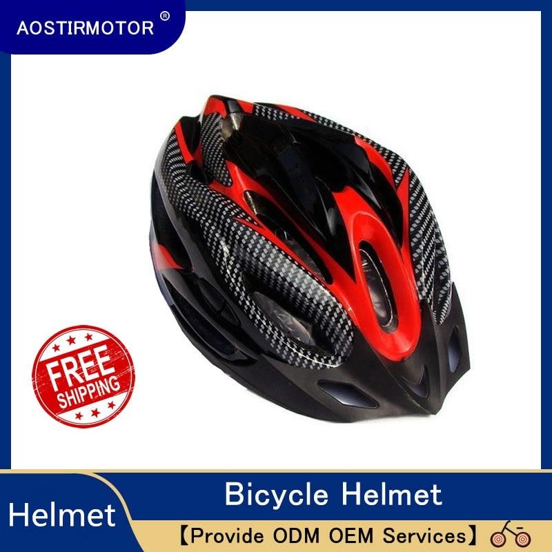 AOSTIRMOTOR Bicycle Helmet MTB Ultralight Road Bike Helmet Mountain Bike Helmet Outdoor Riding Man Woman Cycling Helmet