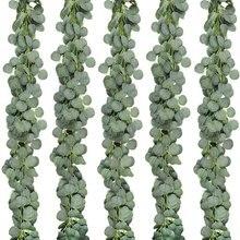 5 Packs Van Kunstmatige Eucalyptus Krans Vergroening Eucalyptus Wijnstokken Voor Bruiloft Tuin Decoratie