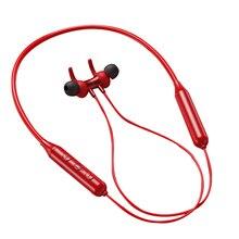 Fone de ouvido sem fio pescoço pendurado esporte fone de ouvido bluetooth 5.0 smartphone tablet fone de ouvido, vermelho