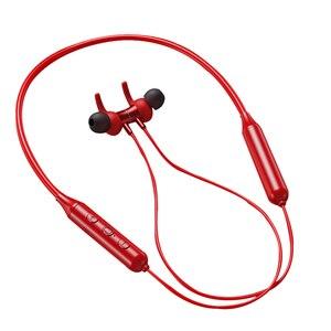 Image 1 - Kablosuz kulaklık boyun asılı spor kulaklık Bluetooth 5.0 kulaklık akıllı telefon Tablet kulaklık, kırmızı