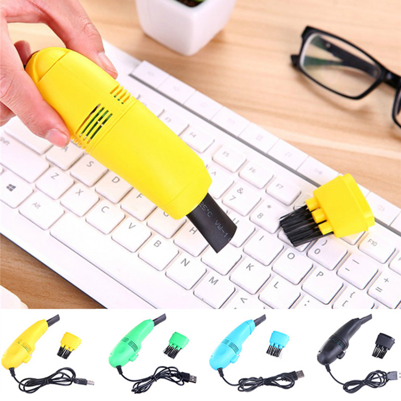 2019 Useful Mini Computer Vacuum USB Keyboard Brush Cleaner Laptop Brush Dust Cleaning Kit Household Cleaning Tool