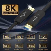 Cable de HDMI 2,1 de fibra óptica Ultra HD 8K, 120GHz, 48Gbs, con Audio y Ethernet, HDMI, HDR 4:4:4, sin pérdida