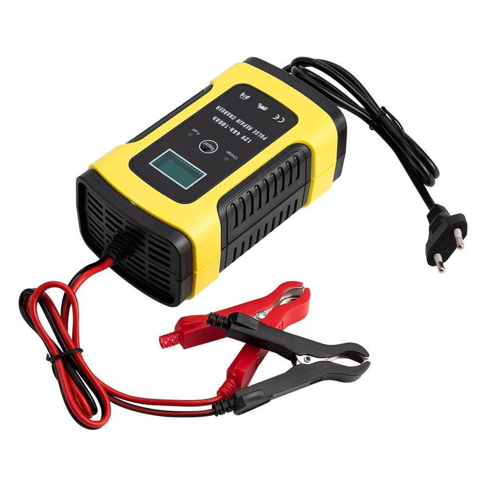 12V 6A Intelligent Car Motorcycle Battery Charger For Auto Moto Lead Acid AGM Gel VRLA Smart Charging 6A 12V Digital LCD Display 2