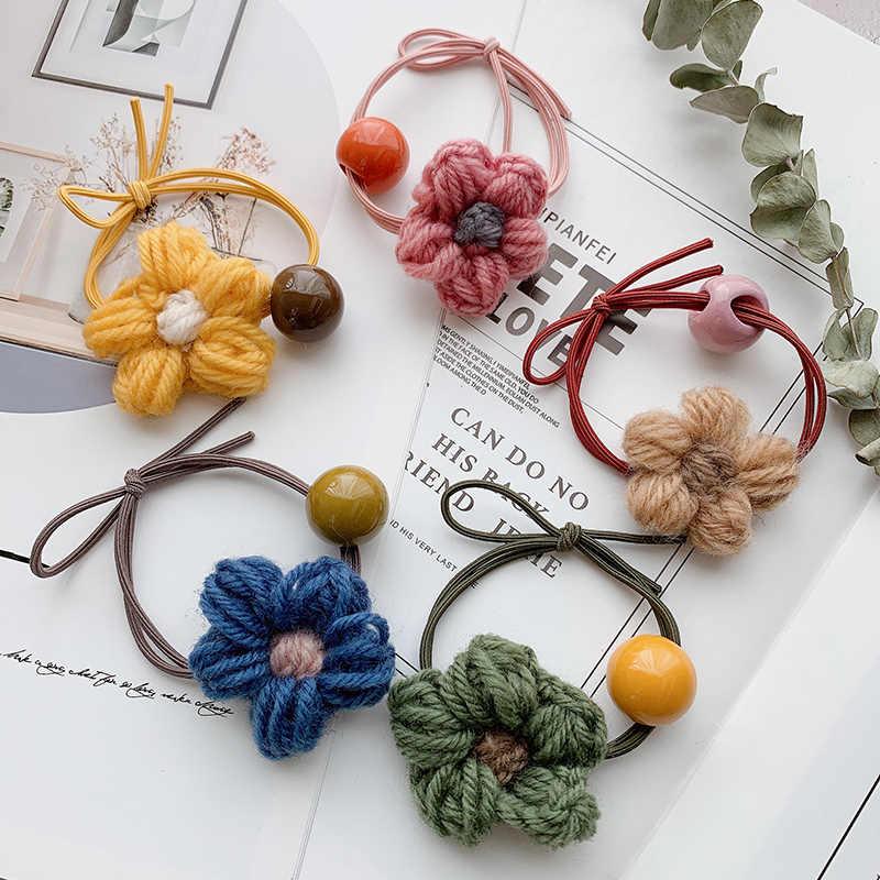 Moda lindo ciervo León anillo pelo Pelo corbata para mujer cuerda coreano elástico cintas de goma para el pelo de la flor de cuerda de pelo accesorios de pelo de los niños