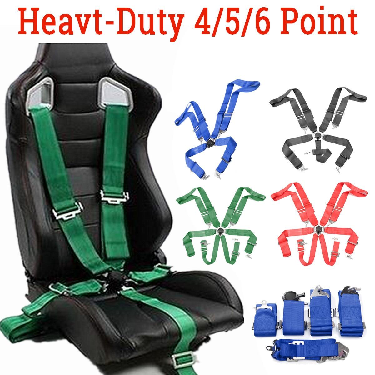 Coleira de segurança para carros esportivos, coleira de segurança para automóveis com 4 5 6 pontos de fixação, liberação rápida, alça ajustável de nylon