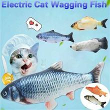 Yeni kedi elektrikli şarj edilebilir sallama balık gerçekçi peluş oyuncak simülasyon Catnip yumuşak hediye için Pet kedi Chewin