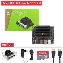 Nvidia jetson nano desenvolvedor kit para inteligência artificial ia computação cpu 4 gb 64 bits lpddr4
