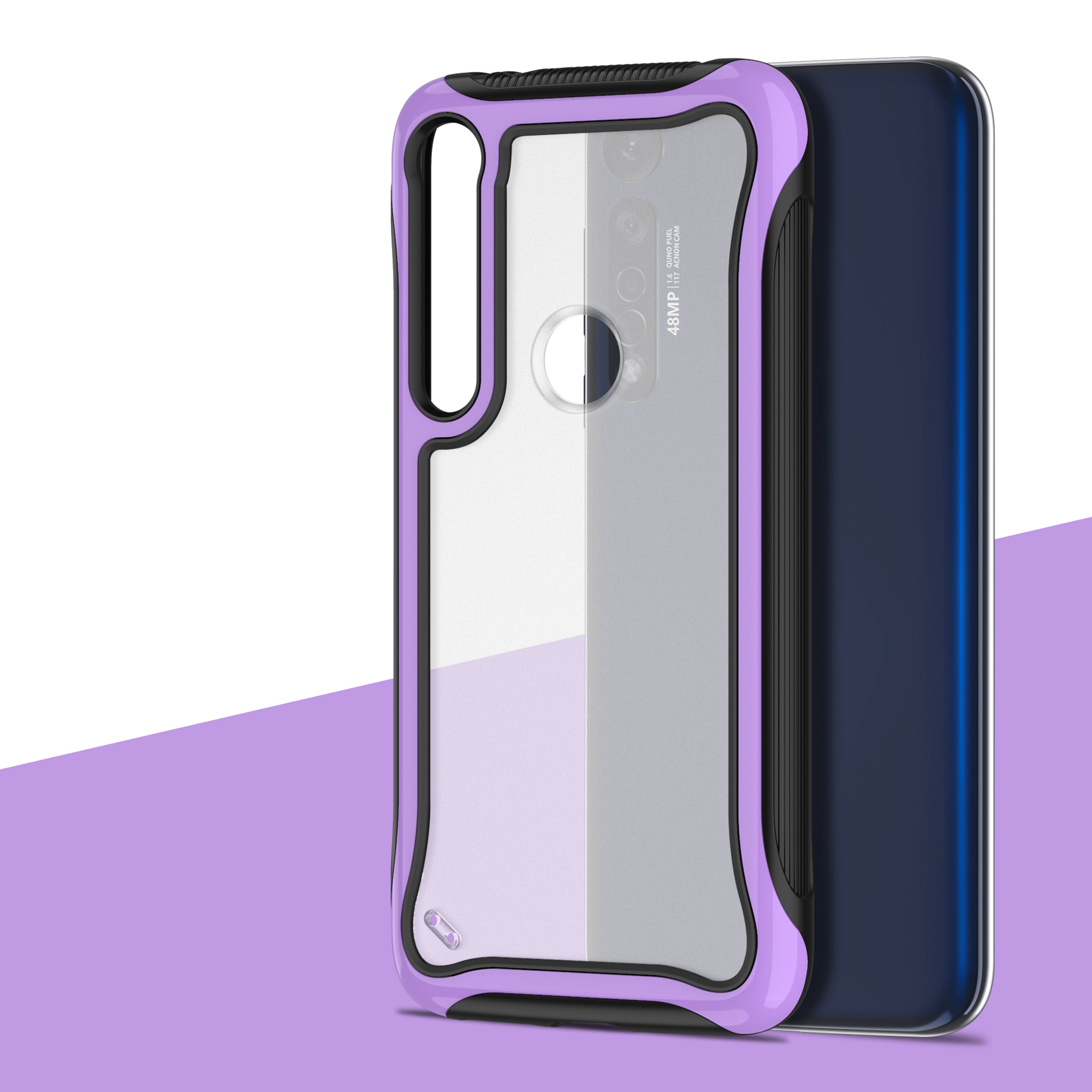 Armor Hard PC Phone Case For Motorola Moto G8 Plus G8 Play G7 Power One Macro Vision E5 Play Go Shockproof Clear Silicone Cover