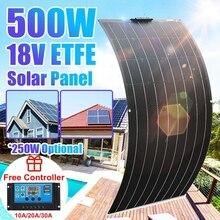مجموعة اللوحة الشمسية كاملة 500 واط 250 واط 18 فولت ETFE خزان طاقة يعمل بالطاقة الشمسية الهاتف بطارية السيارة في الهواء الطلق نظام شاحن للتخييم المنزل في الهواء الطلق