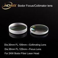 JHCHMX Bodor Focus/Collimating Lens 0 2000W Dia.30 FL.100/125mm Quartz Fused Silica For Bodor Fiber Laser Head