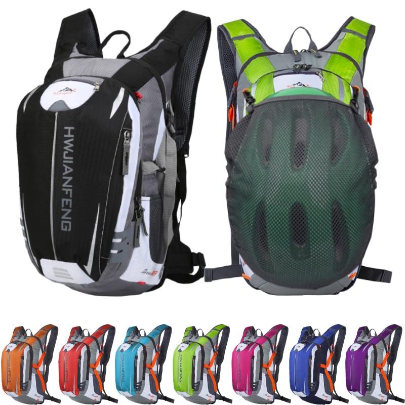 18L открытый спортивный рюкзак для альпинизма, пешего туризма, бега, велосипеда, велосипедного рюкзака, ультралегкий велосипедный рюкзак, водонепроницаемый гидратационный рюкзак Сумки для альпинизма      АлиЭкспресс