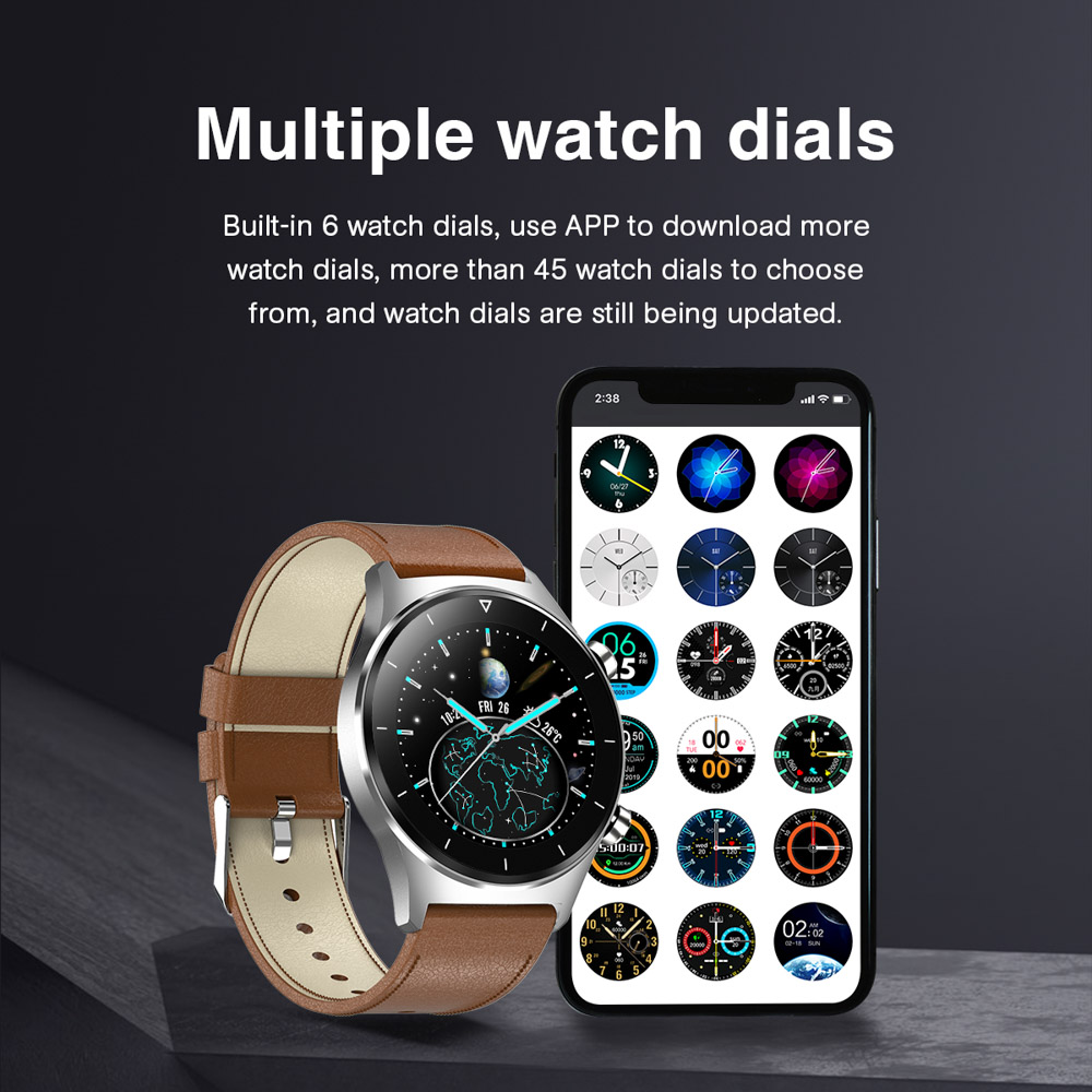 H56664ed7cb53457e8be1050040f8518cO E1-3 Smart Watch Men 1.28 inch Full Touch Screen IP68 Waterproof Bluetooth 5.0 Sports Fitness Tracker Smartwatch For Android IOS