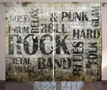 Cortinas de pared con música Grunge para sala de estar y dormitorio,...