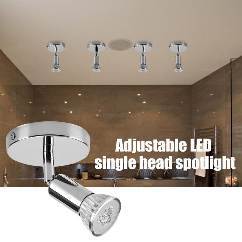 Işıklar ve Aydınlatma'ten Spot ışıkları'de GU10 ayarlanabilir LED yüzeye monte spot düşük güç tüketimi yüksek parlaklık tavan lambası oturma odası için title=