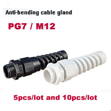 Cable glands PG7 M12 waterproof cable connectors Nylon thread gland rubber wiring conduit plastic sleeve IP68