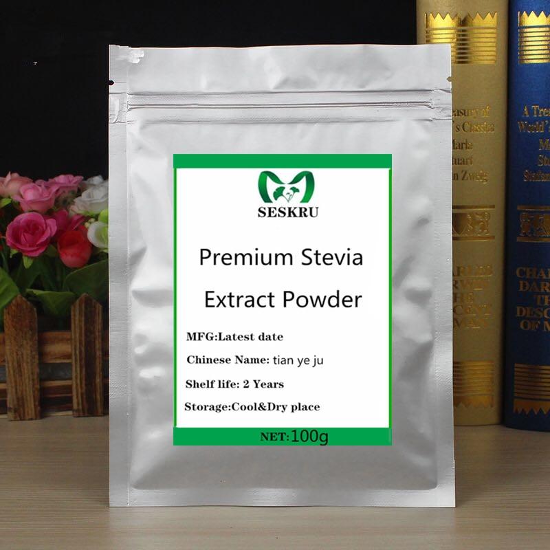 100% Pure Organic Stevia Extract Powder, Zero Calories, Natural Sweetener, Free Shipping