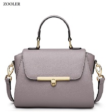 2017 ZOOLER BRAND Genuine Leather bag woman Handbags ladies Shoulder bags OL Style cowhide women simple luxury brand #8128
