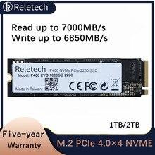 Reletech m.2 p400 evo unidade de estado sólido nvme pcie 4.0 × 4 1tb 2tb 2280 7000 mb/s nand ssd disco rígido interno para desktop portátil