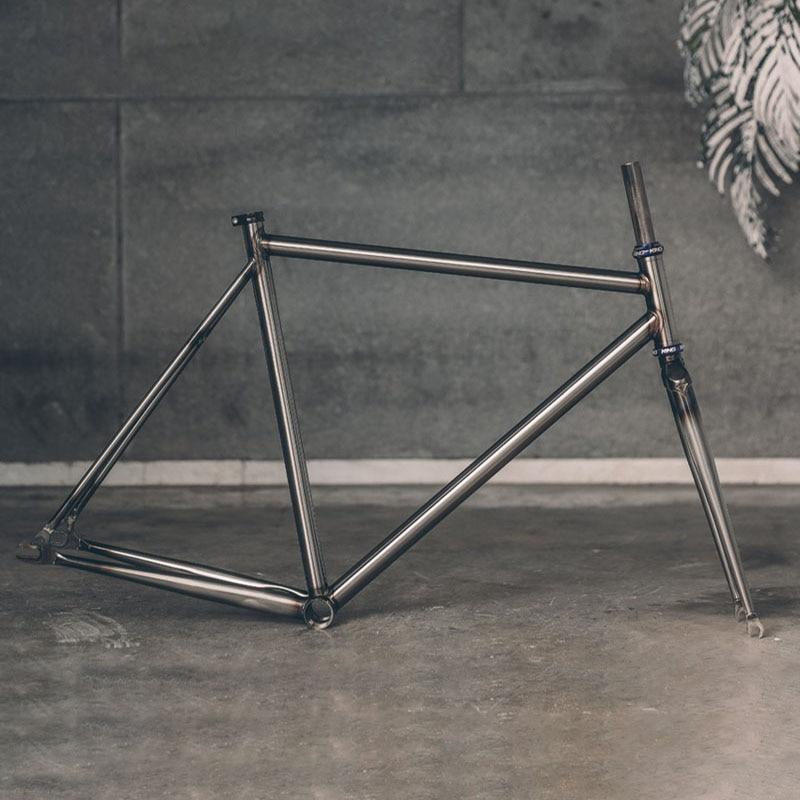 Fixed Gear Bike Frame Chrome Molybdenum Steel Reynolds  525 Pipe Fixie Bike Frame Customize Bike Size 50cm 56cm 60cm