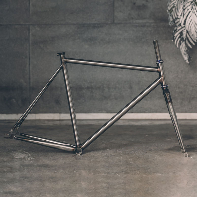 fixed gear <font><b>Bike</b></font> <font><b>frame</b></font> Chrome molybdenum <font><b>steel</b></font> Reynolds 525 pipe fixie <font><b>bike</b></font> <font><b>frame</b></font> customize <font><b>bike</b></font> size 50cm 56cm 60cm image