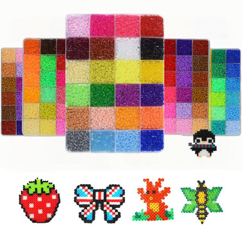 72 Colors 2.6mm Mini Hama Beads Boxed 5mm perler toys Bead Children 3D Puzzles DIY Handmaking Educational Toys Free shipping