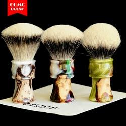 OUMO- soul of wood сандаловое дерево с смоляной щеткой для бритья ручка барсука узлы щетка для бритья