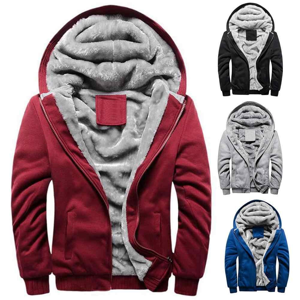ฤดูหนาวเสื้อผู้ชายที่มีคุณภาพสูงโพลีเอสเตอร์ + Spandex Coat Casual Slim เสื้อผู้ชาย Hooded Coat Chic ผู้ชาย Zip UP Coat Outwear