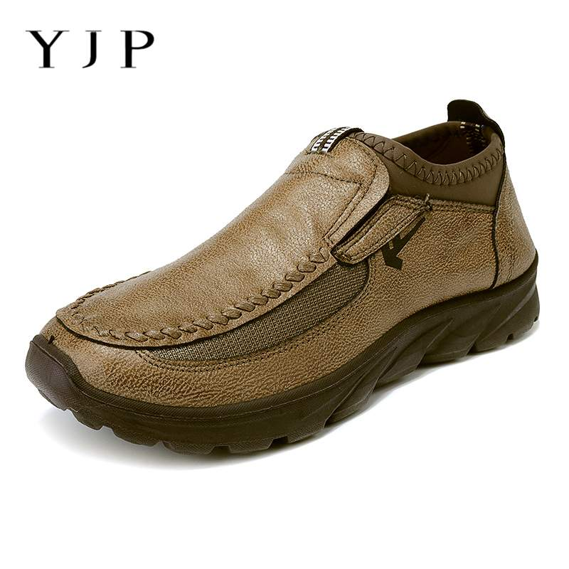 YJP Loafers Sneakers Shoes Outdoor Handmade New-Fashion Style Men Leisure Size-39-48