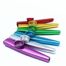 Металлический Kazoo легкий портативный для начинающих инструмент для флейты любителей музыки деревянный духовой инструмент простой дизайн легкий