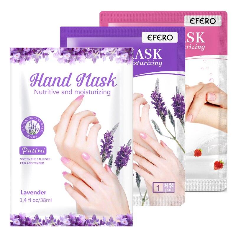 3 paires lavande masque pour les mains crème hydratante blanchiment des mains Spa gants peau morte dissolvant main Spa soins de la peau masque pour les mains