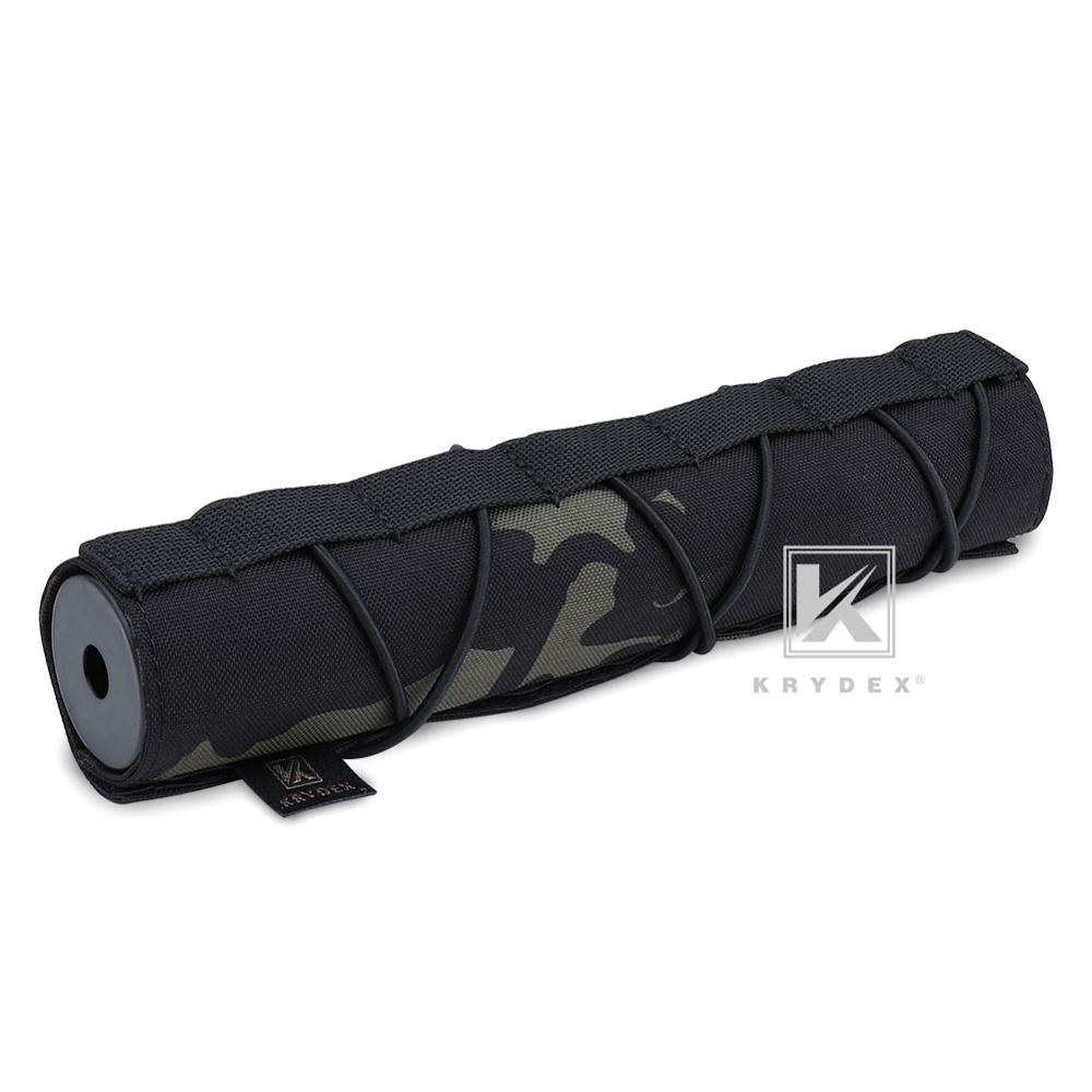 KRYDEX 22CM Muffler Protective Case For Surefire FA762K Tactical Shooting Suppressor Nylon Silencer Protector Cover MCBK