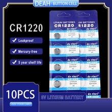 10 шт., Литиевые кнопочные батарейки CR1220 3 в