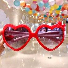 เด็กแว่นตากันแดดเด็กแว่นตาเด็กเด็กนักเรียนหญิงเด็กน่ารักรูปหัวใจแว่นตากันแดด UV400แว่นตา