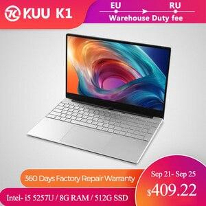 15.6 inch Metal Body Laptop intel i5 5257U 8GB 256 GB 512 GB SSD With Full Layout Keyboard Backlight Fingerprint Unlock Game(China)